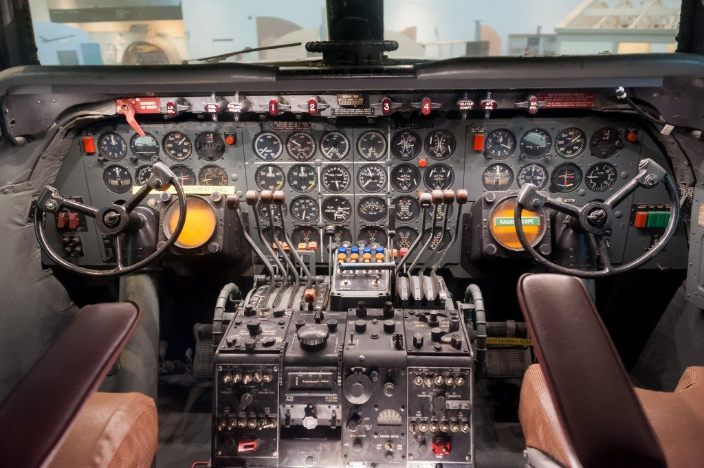 Cockpit interior... a bit more complicated than driving a car (Photo Credit: Alexey Rotanov / Fotolia)
