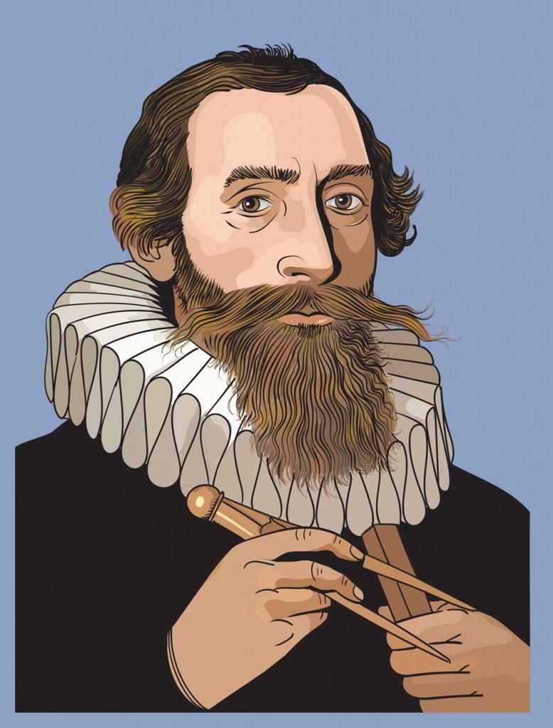 Johannes Kepler vector portrait(Naci Yavuz)s