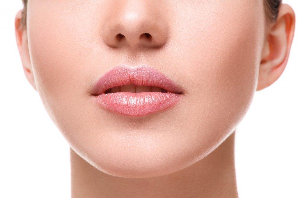 girl's lips