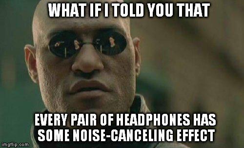 noise cancelling meme