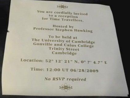 Time traveler list