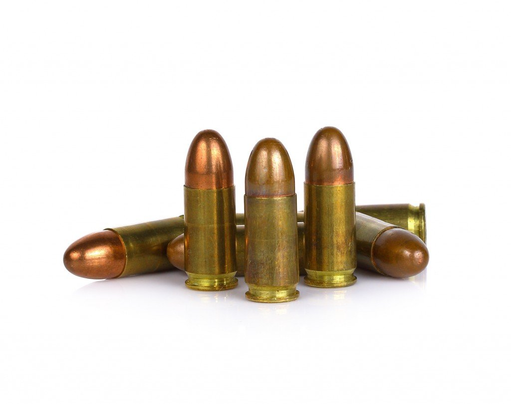 The Perfect (and Deadly) Shape of a 9mm cartridge (Photo Credit: pairoj / Fotolia)