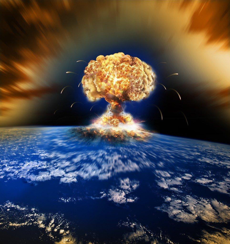 Nuclear explosion atomic war