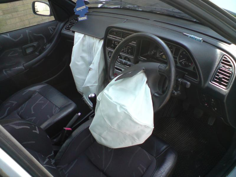 a deflated airbag