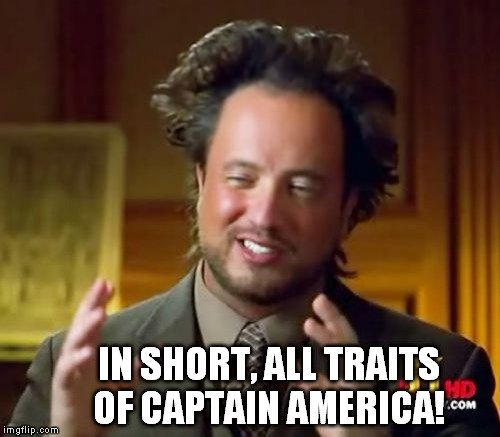 all traits of captain america meme