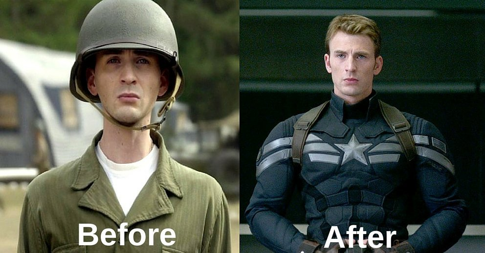 captain america before after
