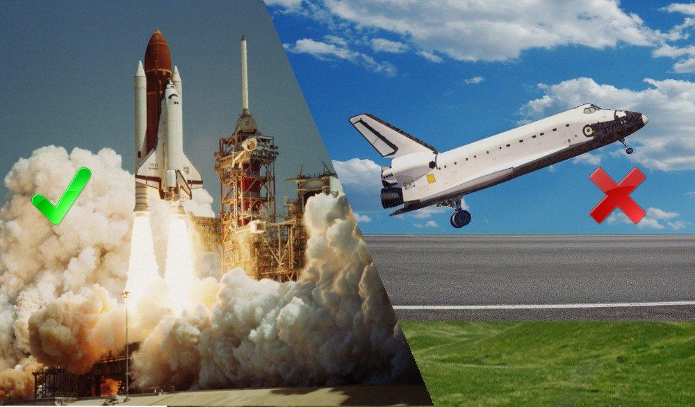 rocket launching like an airplane