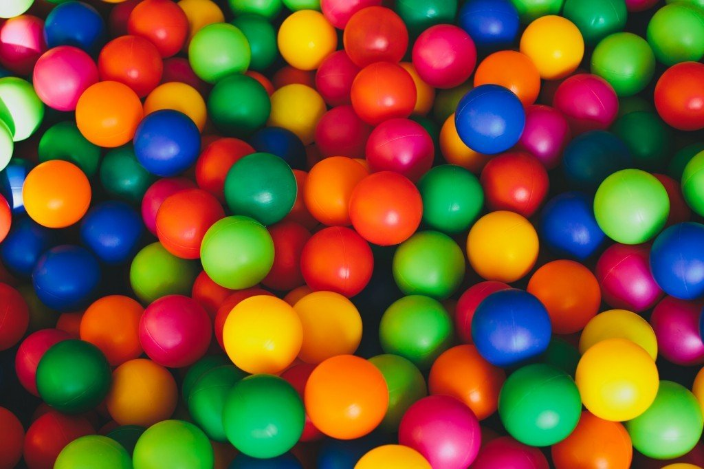 Colourful Balls in a Ball Pit
