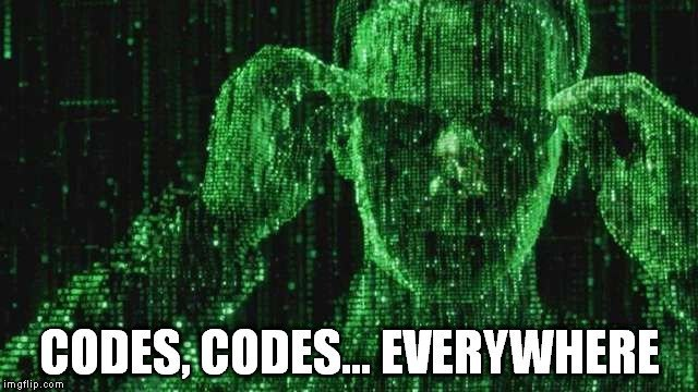 codes everywhere meme