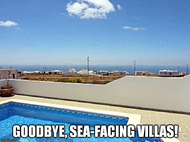 goodbye, sea-facing villas meme
