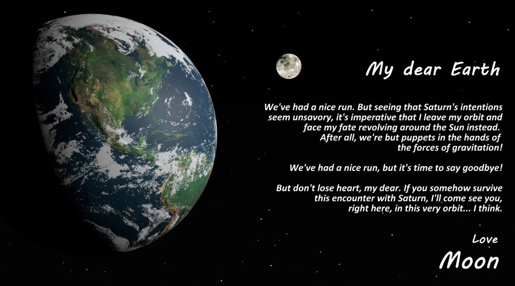 moon's letter to Earth