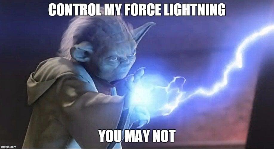 yoda lightning meme