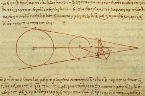 Ancient Greek scripture explaining Lunar Eclipse