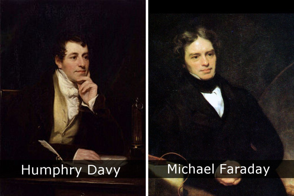 Humphry Davy & Michael Faraday