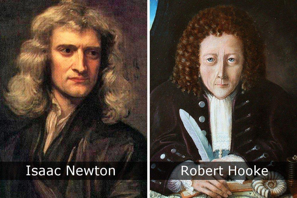 Isaac Newton & Robert Hooke