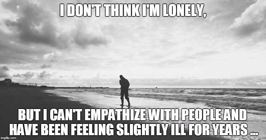 Lonely man walking on beach meme