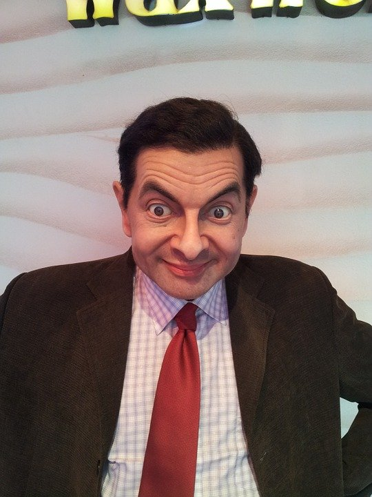 rowan atkinson mr bean wax statue