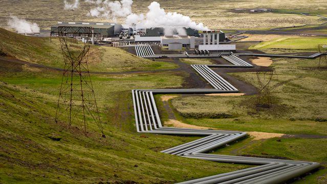 Hellisheidi Geothermal Power Plant in Iceland