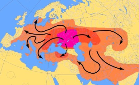 The eventual spread of indo european languages
