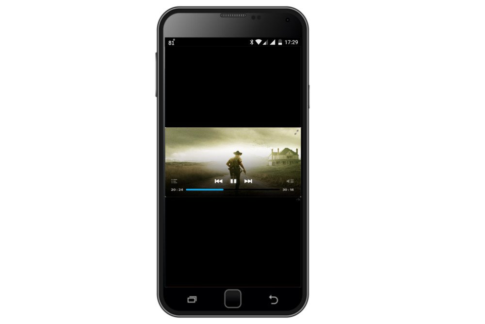 playing video in portrait mode in smartphone