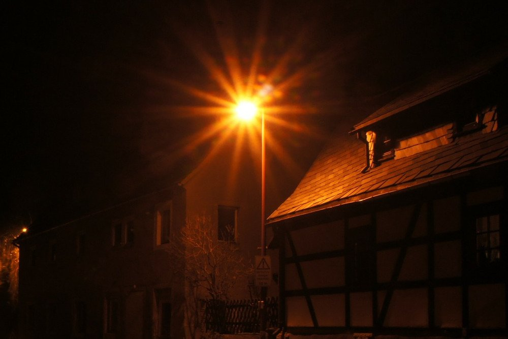 street lamp at night