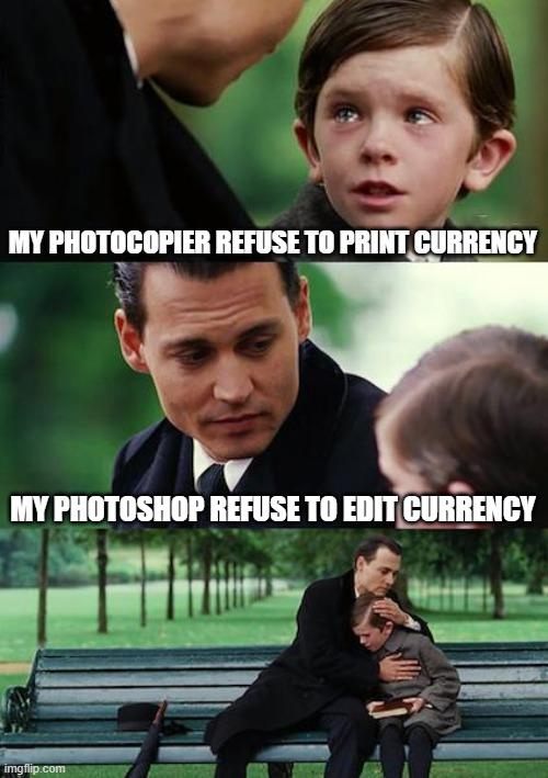 my photoshhop refuse to print curruncy