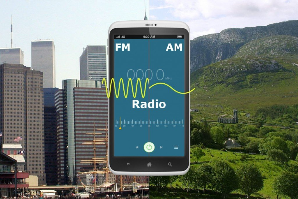 Mobile showing FM AM modulation