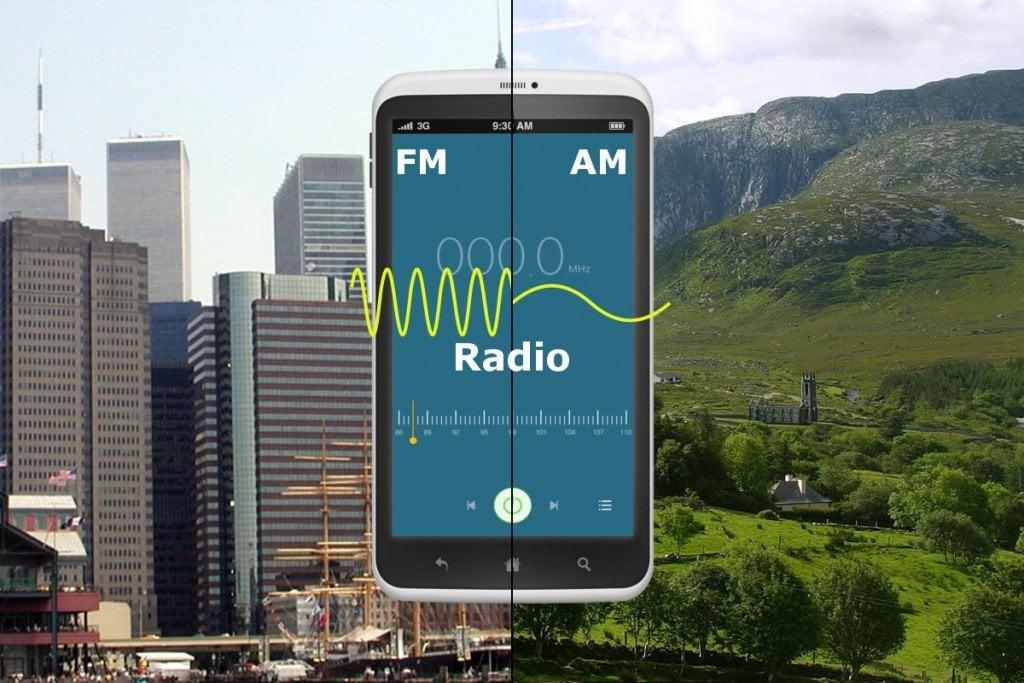 Mobile showing FM AM modulation