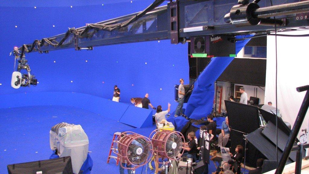 shooting a video using blue screens
