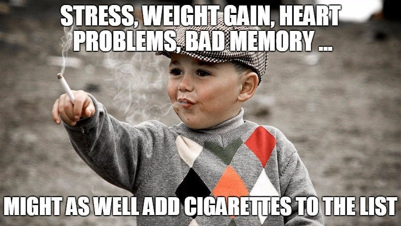 Cigarette smoking chind meme
