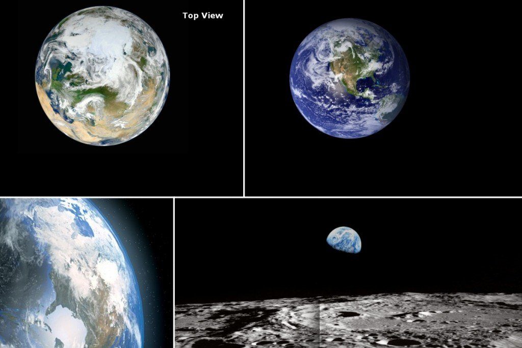 Earth collage