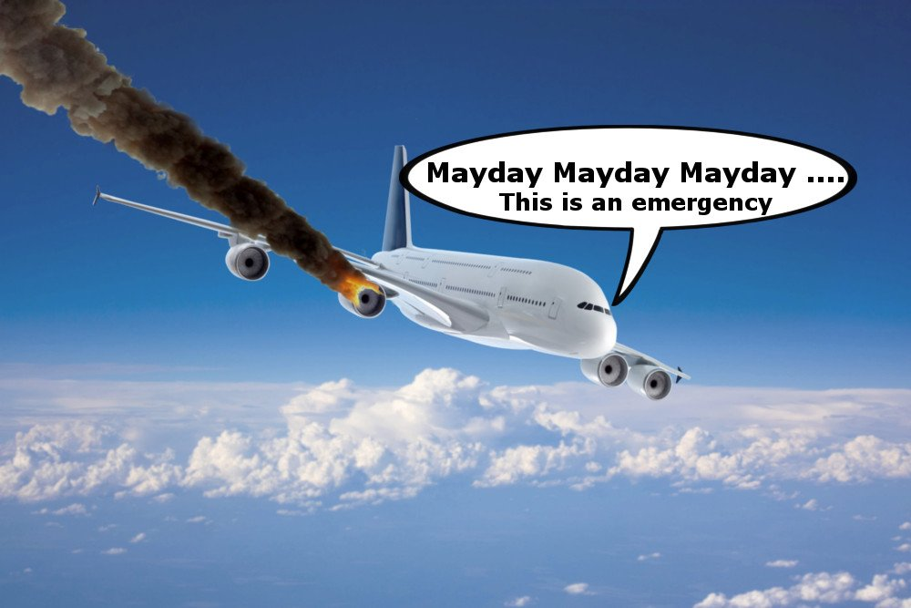 Mayday Crashing plane explosion fire smoke trail dying movie plane scienceabc