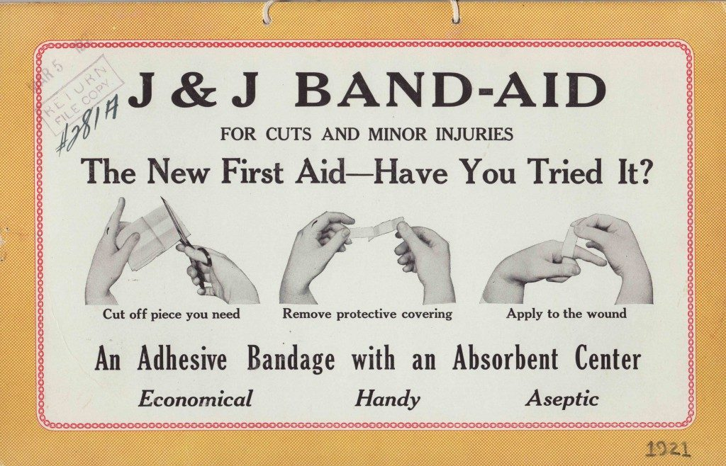 Original Advertisement for a Band-Aid