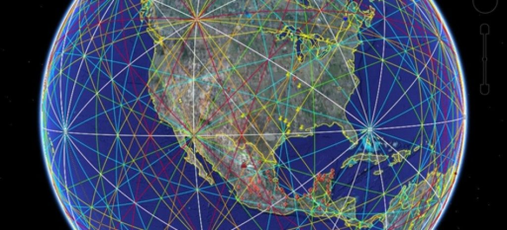 Ley Lines over USA