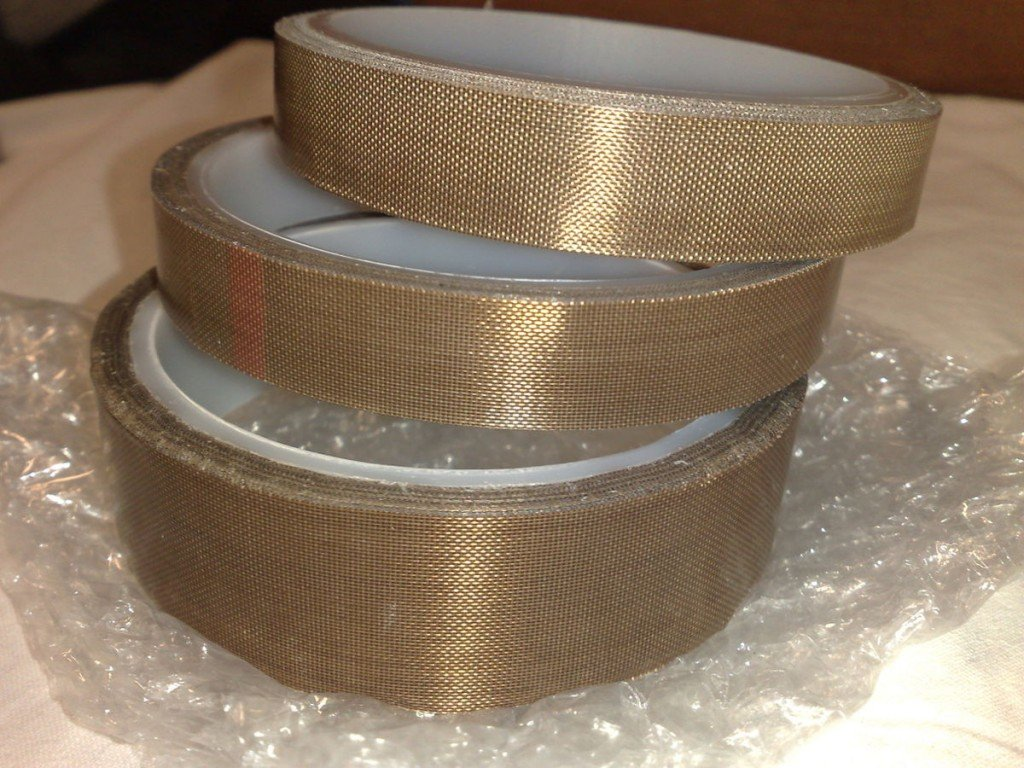 PTFE tapes with pressure-sensitive adhesive backing, rolls of 15 and 25 mm widths