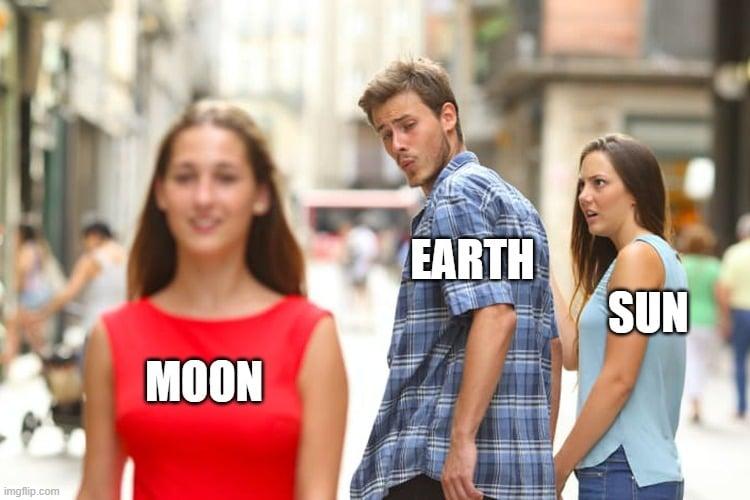 EARTH SUN MOON meme
