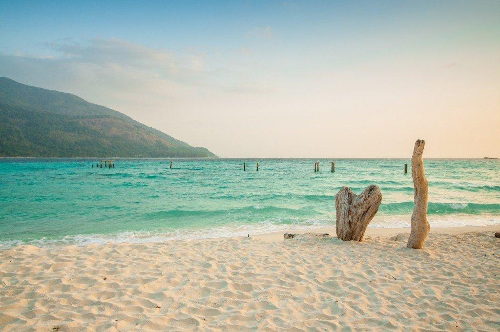 Thailand beach sand