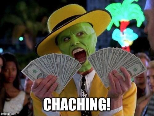 Cha-ching Mask meme