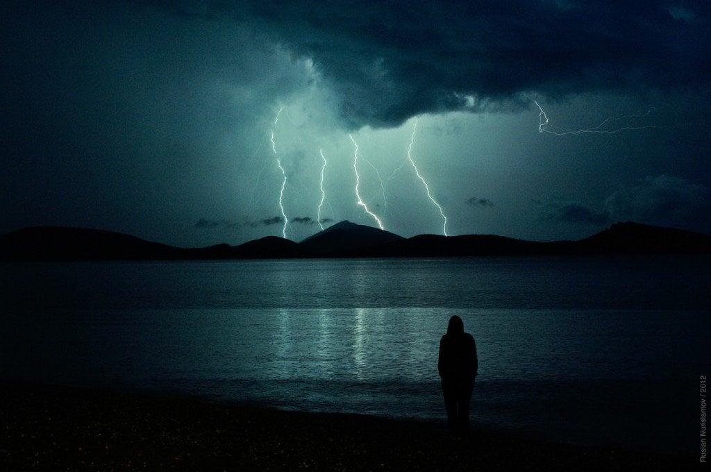 Bad strom weather lightning