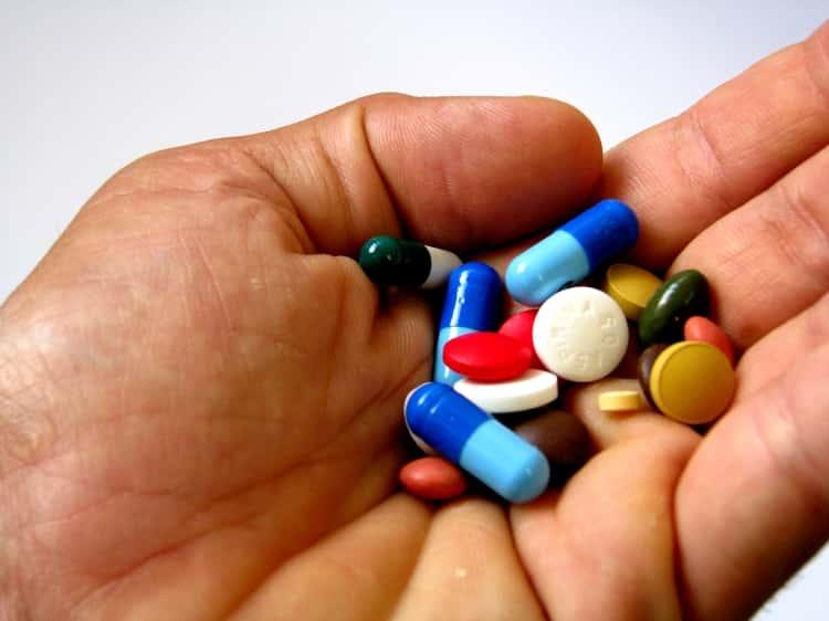 Pills capsule in hand