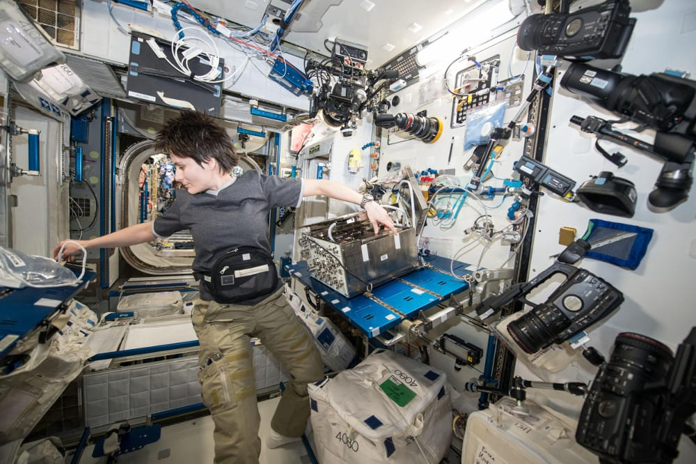 astronaut in ISS