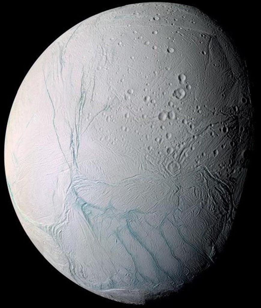 Enceladus the icy moon of Saturn