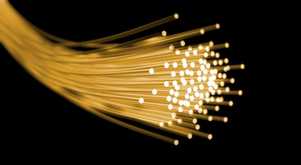Photons optical fiber