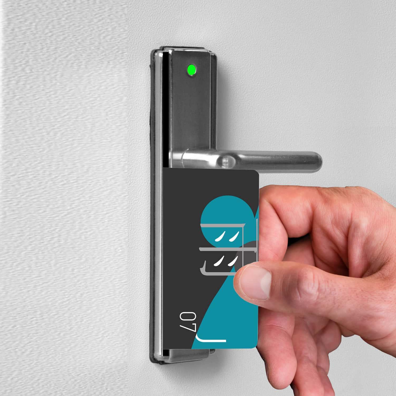 A room access key card