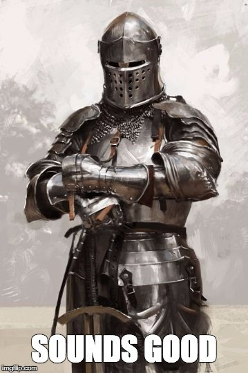 armoured knight meme
