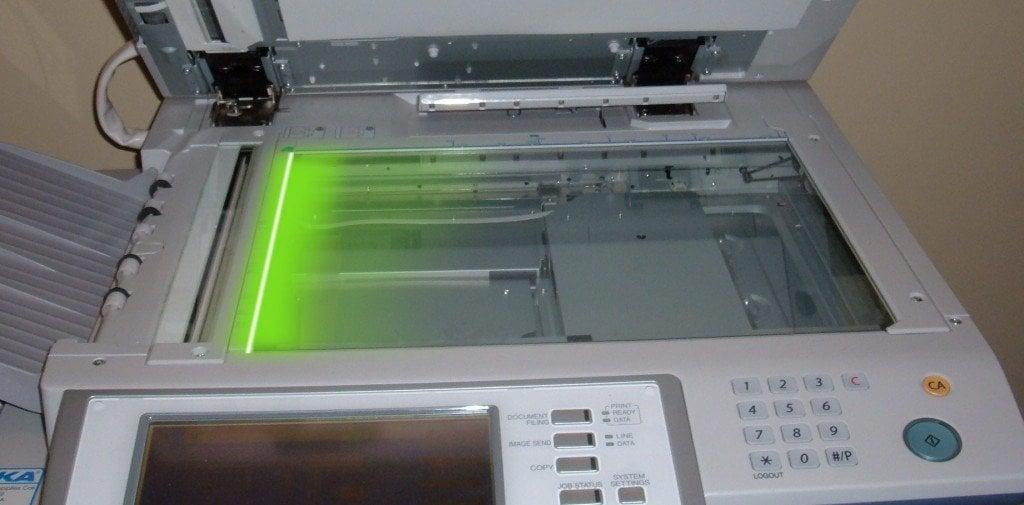 Phtocopier laser light