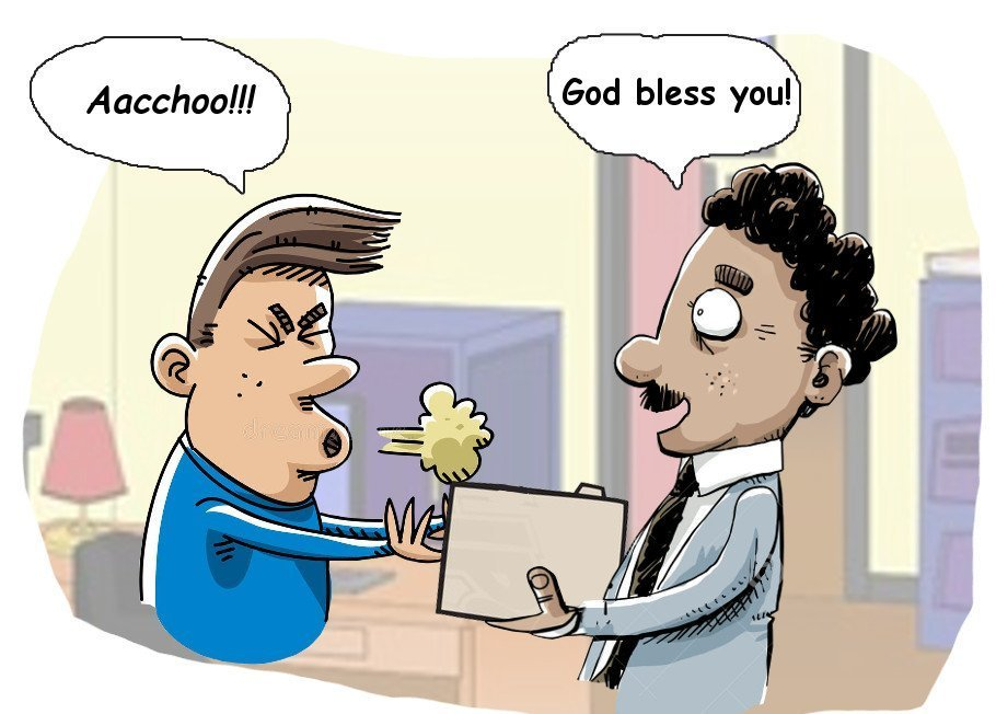 Cartoon sneezing