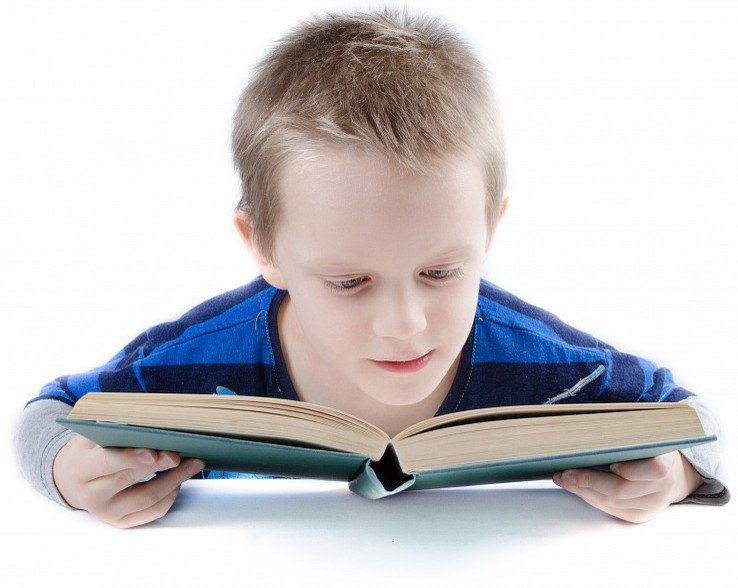 Kid reading story book