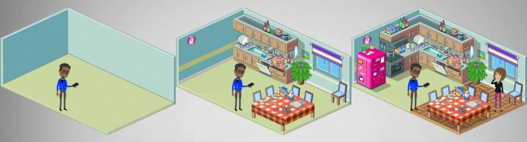 3d room house interior housestuff