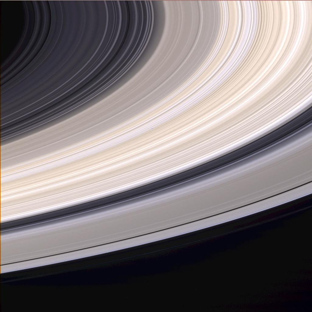 Close up of saturn ring